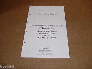 1997 ford louisville aeromax 3/96 wiring diagram schematic sheet service  manual | ebay  ebay