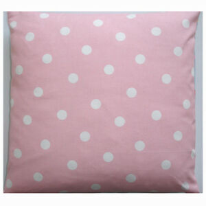 16034 Cushion Cover Baby and White Polka Dots Pink Nursery Pillow Polkadots - COVENTRY, West Midlands, United Kingdom - 16034 Cushion Cover Baby and White Polka Dots Pink Nursery Pillow Polkadots - COVENTRY, West Midlands, United Kingdom
