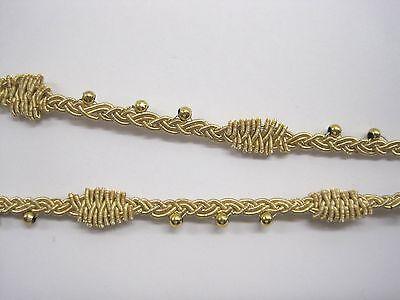 1 m Handgearbeitete Borte Boulillon Gold BO-GB-1007