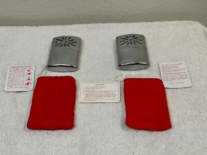 (2) Vintage Hand Warmers w/ Red Flannel Bag and Instructions, Hong Kong, Nice