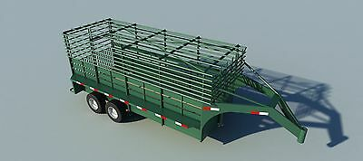 Build your own 16' Gooseneck Trailer (DIY Plans) Fun to build! Save money!