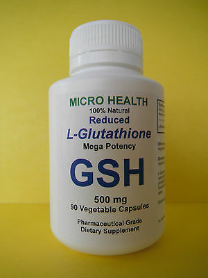 L-Glutathione Reduced 500mg - MICRO HEALTH - 90 Vegetable capsules