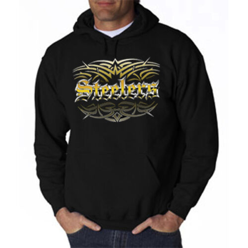 NEW Steelers Tattoo Tribal Hoodie Sweatshirt Small Medium Large XL 2X 3X 4X 5X