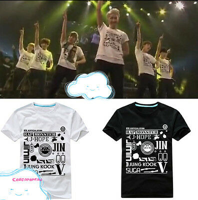 BTS JUNGKOOK JHOPE V JIN JIMIN WAKE UP T-shirt Bangtan Boys unisex Kpop New