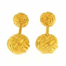 Tiffany & Co. Schlumberger Woven Knot Cufflinks 18kt Yellow Gold
