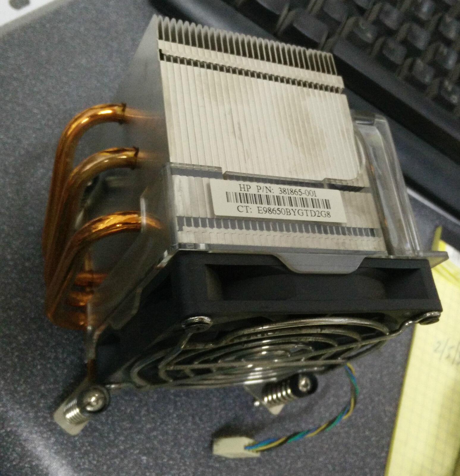 HP Compaq 381865-001 DC7600 CMT Heatsink & Fan - FREE SHIP