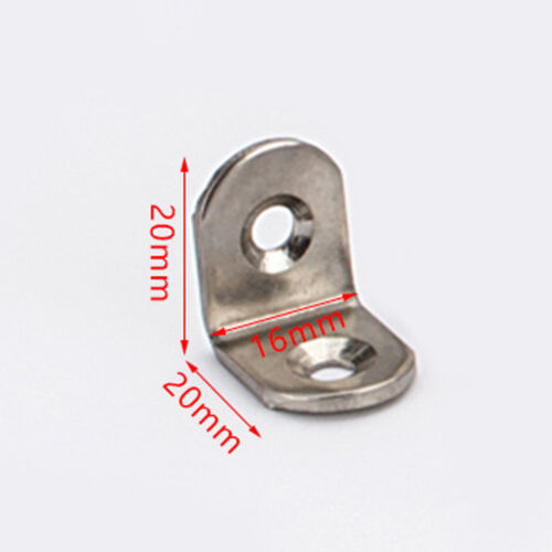 """/""""L/"""" Type Furniture Cabinet Corner Brackets Stainless Steel Right Angle Hardware"""