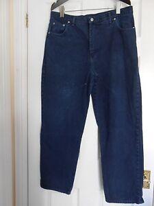 """""""travailleur Jeans' , Denim Bleu, Classic Fit, Coupe Droite, Taille 38, Inside Leg 29"""