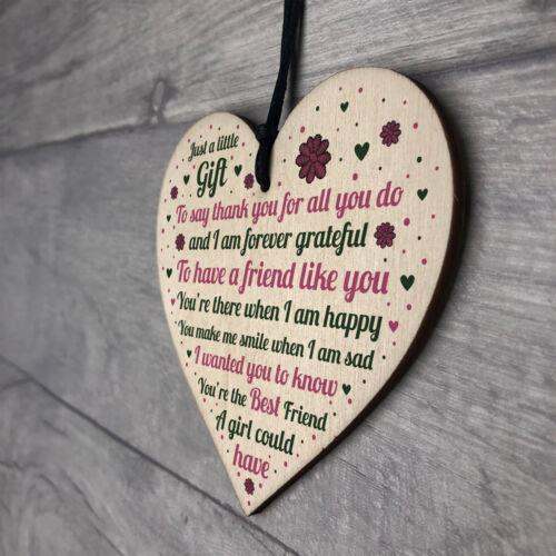 Best Friend Plaque Wooden Heart Best Friend Gifts Best Friend Gifts For Women