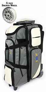 KAZE-SPORTS-Deluxe-4-Ball-Bowling-Roller-Tote-Bag-with-Smooth-PU-Wheels-League
