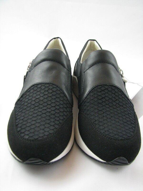 Geox D620SA Damen Sneaker in schwarz/weiß Leder Gr.37