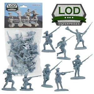 BARZSO-LOD-Revolutionary-War-Continental-Infantry-16-Plastic-Figures-FREE-SHIP