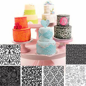 6-Pcs-Texture-Mat-Floral-Texture-Sheet-Cake-Decoration-Fondant-Mold-Baking-Tools