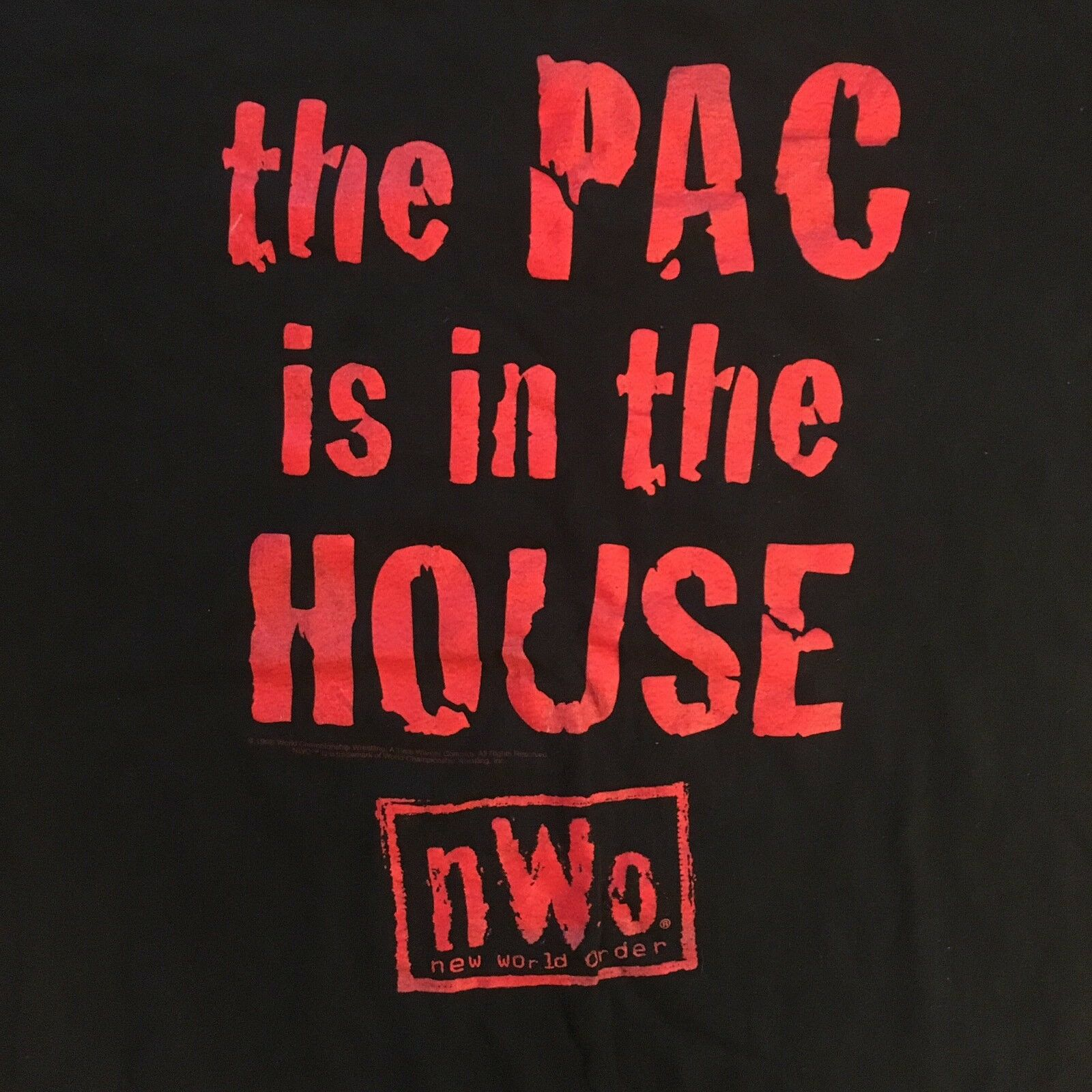 Vintage WWF T Shirt NWO Wrestling The Pac Is In T… - image 2
