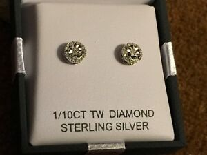 c2da0eb1d New in Box Netaya 1/10 ct Diamond Double Halo Stud Earrings in ...