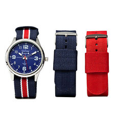 Newyork Army NYA2135-5 Blue Dial Nylon Multi-color Watch Set - NB/W/R COD PAYPAL