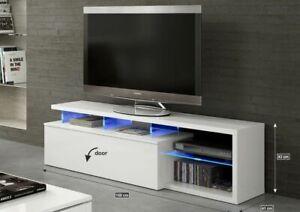 Mobile per soggiorno Modulo TV per salotto Blue-tech con LED, Bianco ...