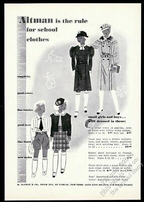 Women /& Man at NYC Grand Central Station VINTAGE AD 1949 HART SCHAFFNER /& MARX