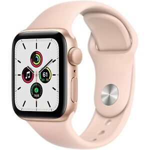 ShipNow-Apple-Watch-SE-GPS-Wi-Fi-40mm-Pink-Sand-Sport-band-Gold-Aluminum-Case