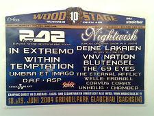 STICKER - WOODSTAGE OPEN AIR 2004 Front 242/Nightwish/Blutengel/Unheilig/ASP/DAF