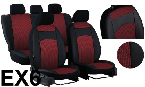 """VW TIGUAN Mk2 2016 ONWARDS ECO LEATHER /& FABRIC /""""ROYAL/"""" TAILORED SEAT COVERS"""