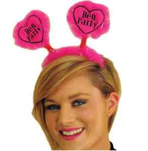 Festive Girl Head Boppers Hen Night Birthday Party Pink and black  Headgear