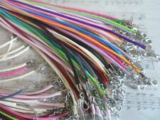 """20 x 17-18"""" Handmade Faux Leather Necklace Cord~Smooth Braided,Mixed colours"""