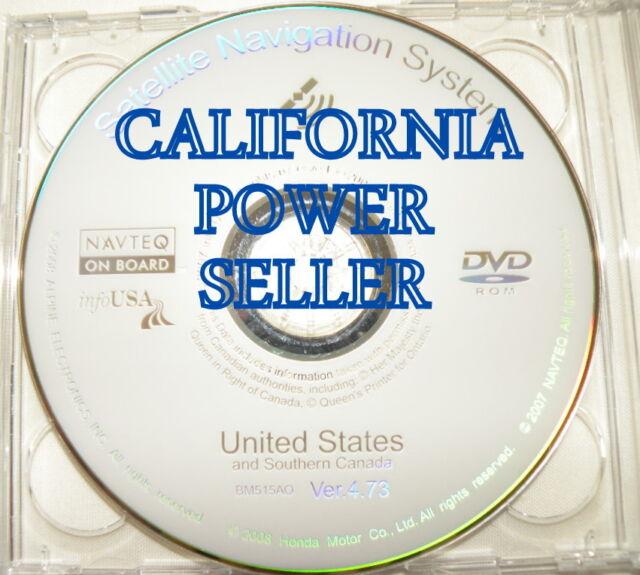 2006-2011 HONDA ACURA NAVIGATION MAP DISC DVD 4.73A UPDATE