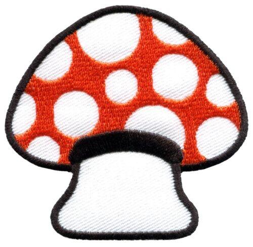 Mushroom boho hippie retro love peace weed trance applique iron-on patch S-63