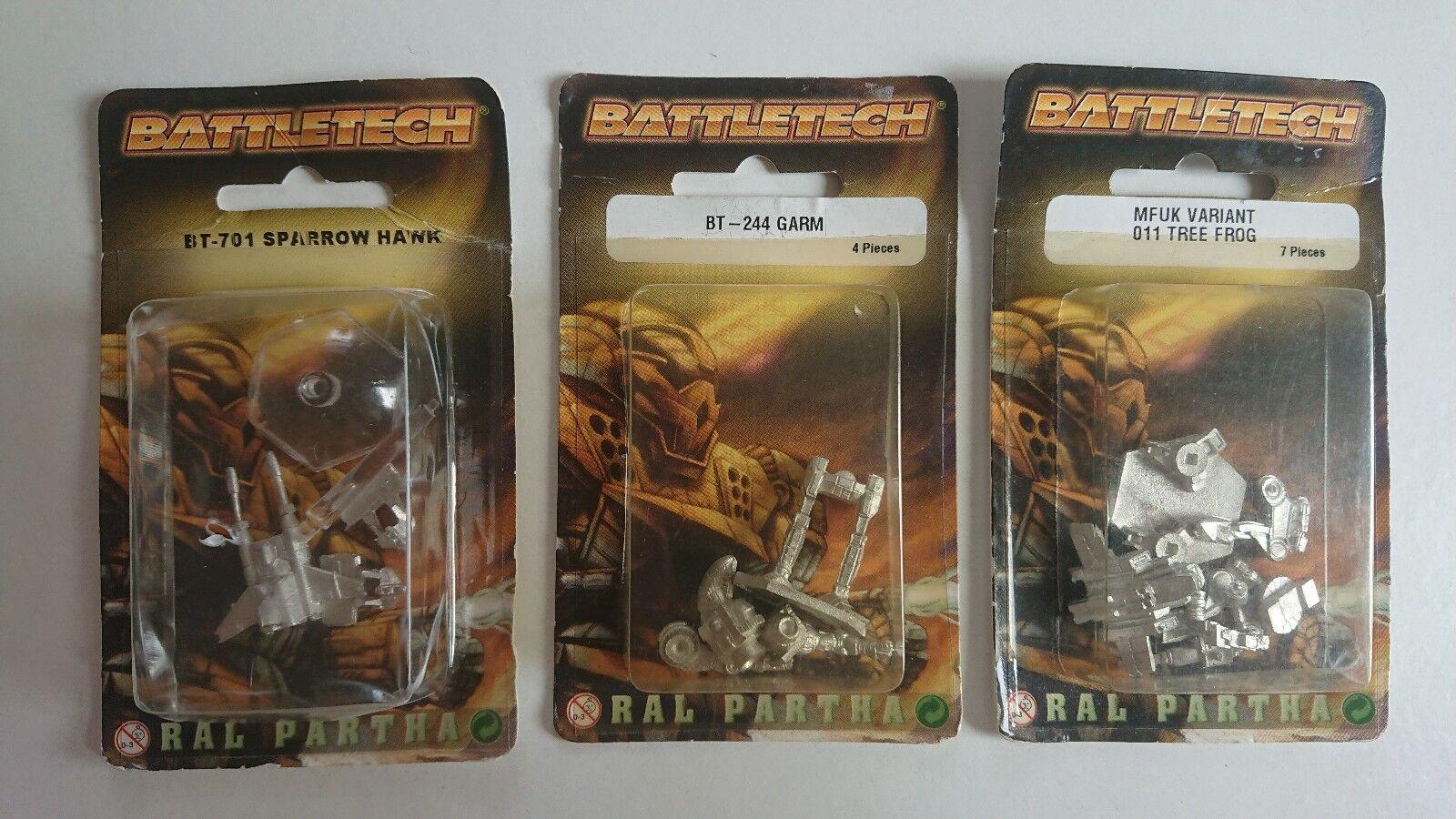 Ral Partha Battletech Blisters X 3