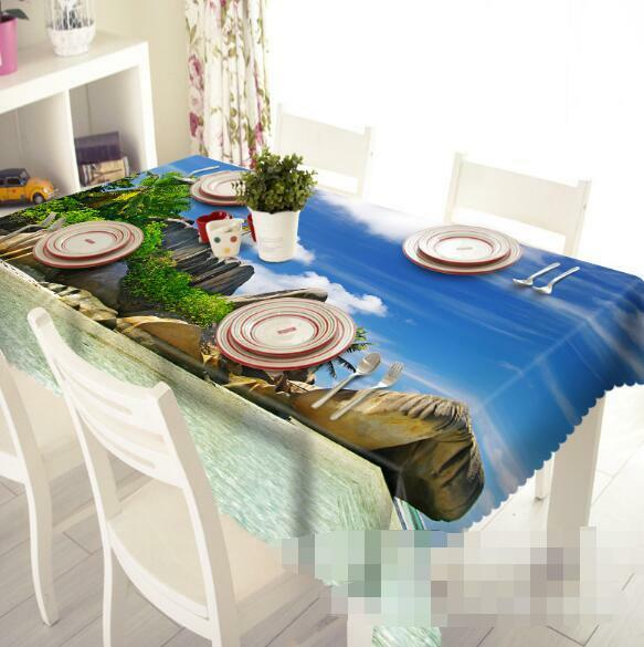 3D Beach Stones Tablecloth Table Cover Cloth Birthday Party Event AJ WALLPAPER