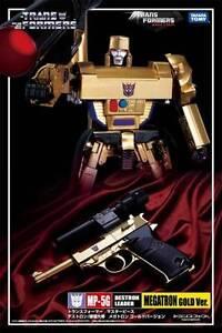 FAST Takara Transformers Masterpiece MP-05G Gold Megatron Figure NEW