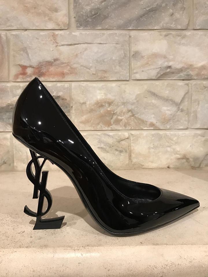 NIB Yves Saint Laurent YSL Opyum Opium 110 Black Patent Leather Heel Pump 39.5