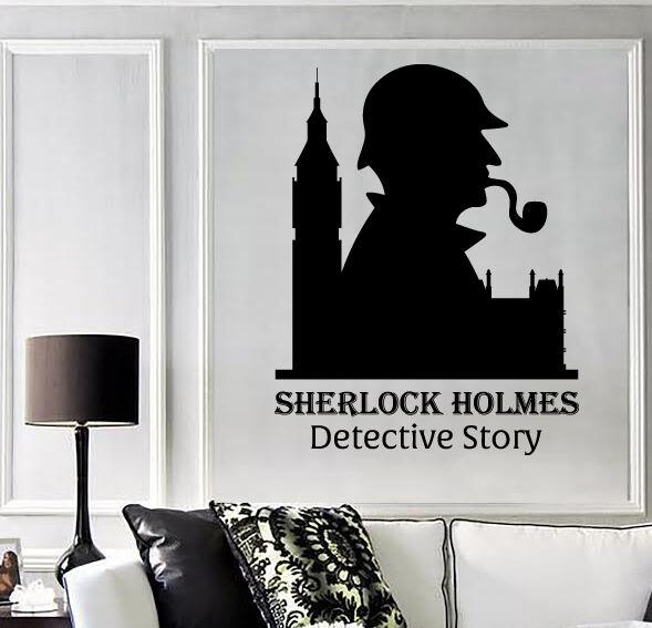 Wall Vinyl Decal Sticker Sherlock Holmes Detectiv Story Abstract Decor (z4526)