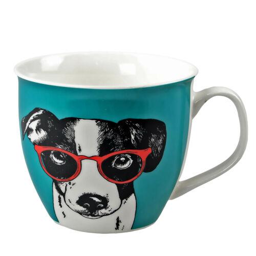 Oxford chien à lunettes Mug Porcelaine Fine Maison Café Thé Tasse Boissons Chaudes Tasses