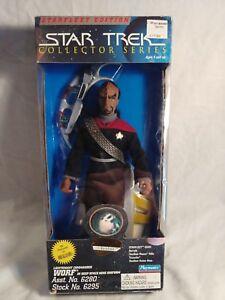 Vintage-Star-Trek-Collector-Series-Worf-Deep-Space-Nine-Uniform-Figure-1995