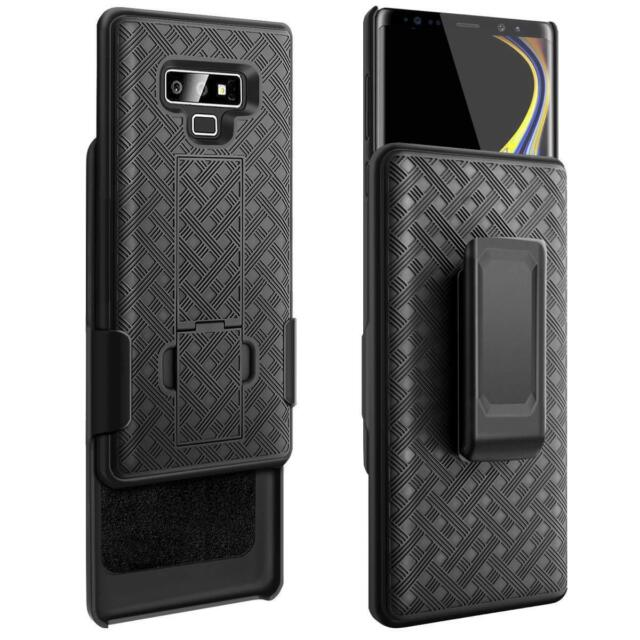 sports shoes f4186 7026c Samsung Galaxy Note 9 - Hard Holster Kickstand Case Cover With Belt Clip  Black