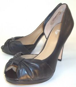 d5f1056b9 Nine West EVERY Wos Heels US 8 M Black Leather Slip-On Bow D'orsay ...