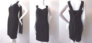 REVIEW-NEW-rrp-299-95-Women-039-s-Dress-Size-8-US-4-Black-Sleeveless-Sheath