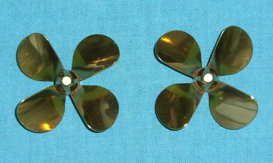 Model Boat Brass Propellers - 4 Blade Scale .