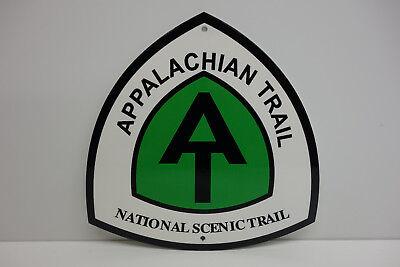 APPALACHIAN TRAIL NATIONAL SCENIC TRAIL BAKED ENAMEL SIGN HEAVY. MINT NOS