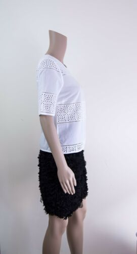 ex M/&S Top Marks /& Spencer Embroidered Cut Out Cotton Top