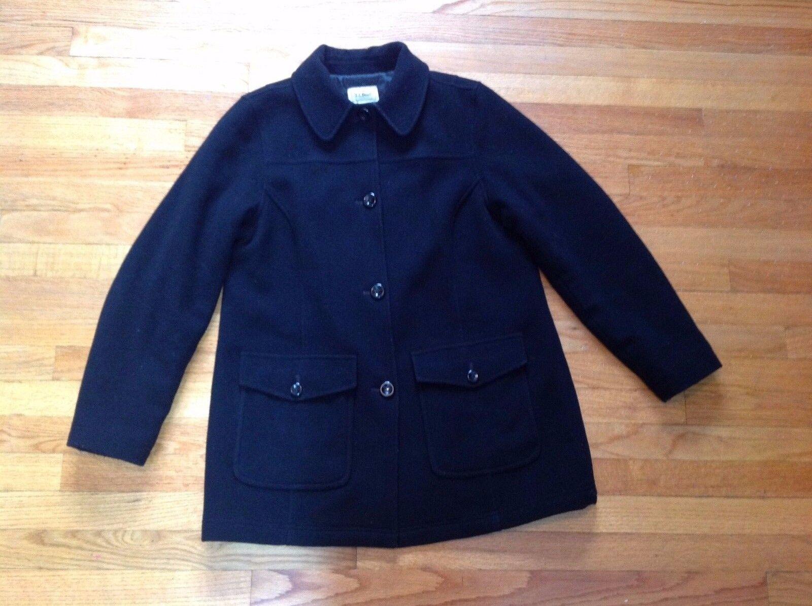 Vintage L.L Bean Casual Button Down Coat Women's Petite Size L