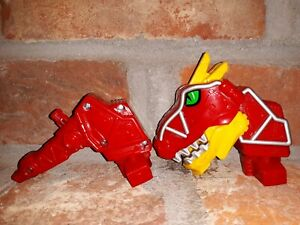 HEAD-TAIL-Piece-lot-2015-Bandai-Power-Rangers-Dino-Charge-Rumble-Roar-T-Rex-Zord