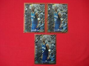 KEVIN GARNETT 1996-97 FINEST 3 CARD LOT BRONZE #205 THEME F17 COMMON FOUNDATIONS