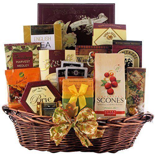 Bountiful Gourmet Wishes Gift Basket - Chocolates, Biscotti, Cookies, Delicacies