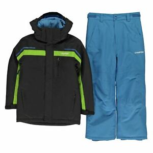 Campri Boys Kids Childrens Zip Front Hooded Padded Warm Winter Ski Jacket