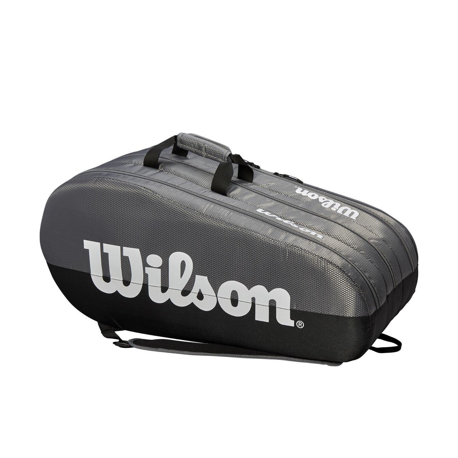 Wilson Team Team Team 3 Comp 12er Bag schwarz grau - große Tennistasche zum Toppreis    | Verwendet in der Haltbarkeit  | Offizielle  | Smart  708f8d