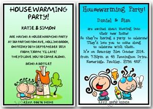 personalised housewarming new home party get together invitations