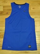 Mens Nike Dri-Fit Basketball Training Tank Top Size Small Blue Black 682995 480